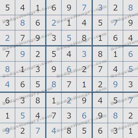 Pogo Daily Sudoku Solutions: February 19, 2019
