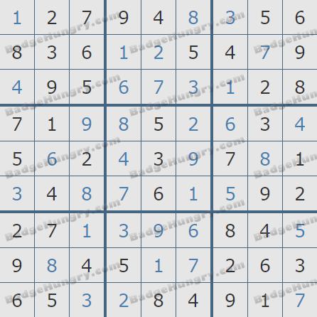 Pogo Daily Sudoku Solutions: February 22, 2019