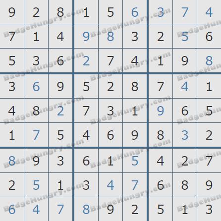 Pogo Daily Sudoku Solutions: February 24, 2019