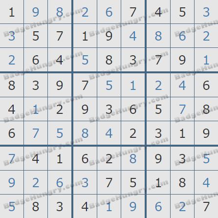 Pogo Daily Sudoku Solutions: February 26, 2019