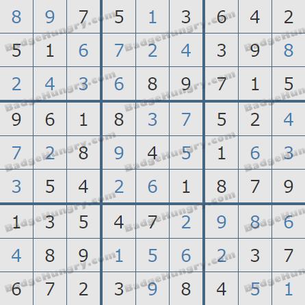 Pogo Daily Sudoku Solutions: February 27, 2019