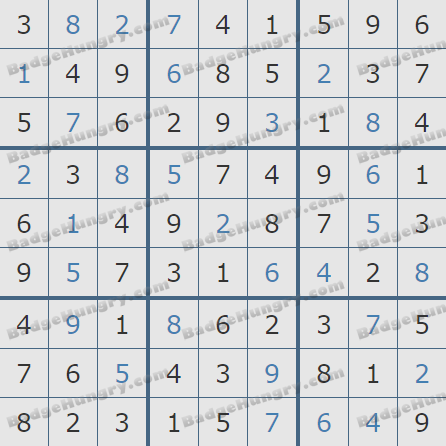Pogo Daily Sudoku Solutions: March 1, 2019