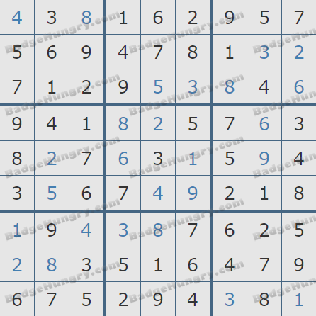 Pogo Daily Sudoku Solutions: March 3, 2019