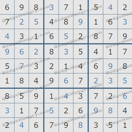 Pogo Daily Sudoku Solutions: March 9, 2019