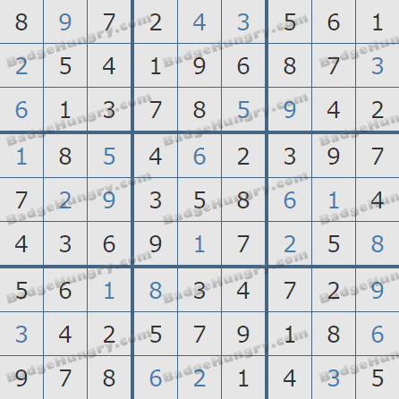 Pogo Daily Sudoku Solutions: March 10, 2019