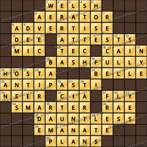 Crossword Cove HD Solution: March 18, 2019