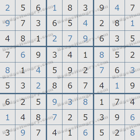 Pogo Daily Sudoku Solutions: March 19, 2019