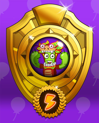 Spike's Bingo Blast Badge Marathon Victory Badge