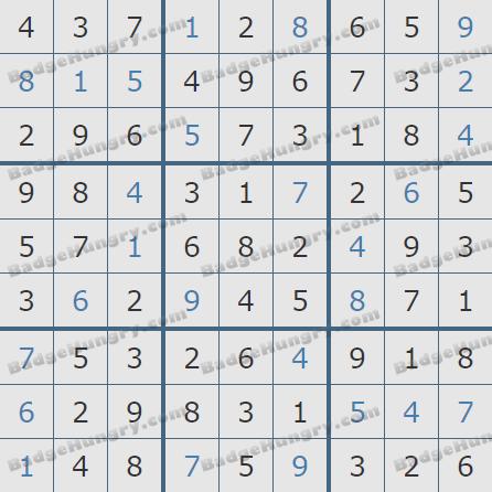 Pogo Daily Sudoku Solutions: April 6, 2019