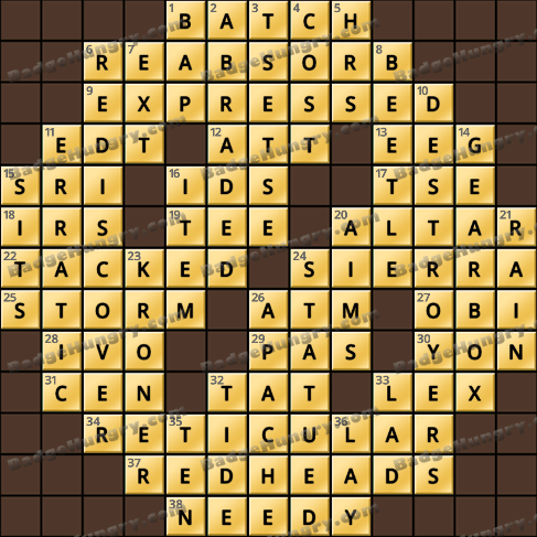 Crossword Cove HD Solution: April 8, 2019