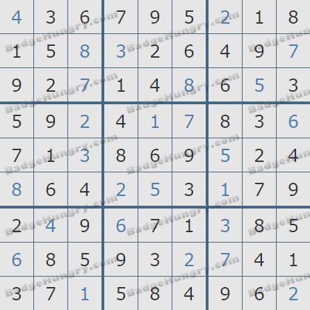 Pogo Daily Sudoku Solutions: April D, 2019