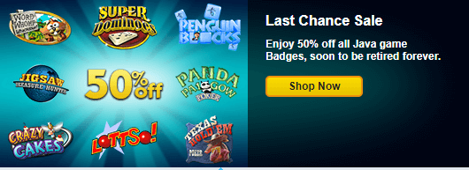 Sale: Mix-n-Match Badges in Java Games