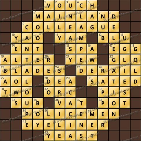 Crossword Cove HD Solution: April 19, 2019