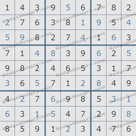 Pogo Daily Sudoku Solutions: April 22, 2019