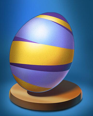Undiscovered World - Wild Striped Egg Badge