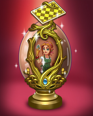 Solitaire Gardens - Golden Garden Egg Badge