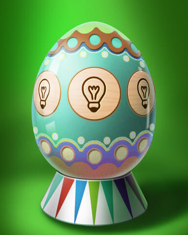 A Way With Words - Wordy Egg Badge