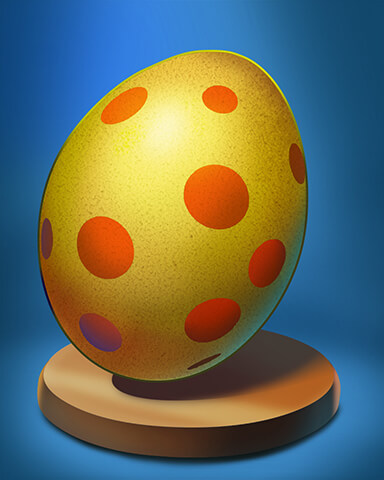 First Class Solitaire HD - Orange Spotted Egg Badge