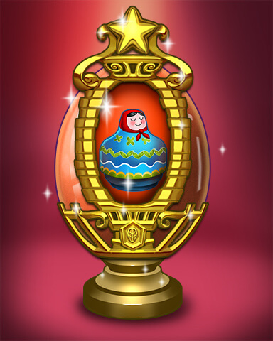 Trizzle - Golden Nesting Egg Badge