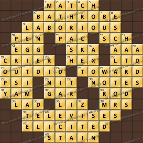 Crossword Cove HD Solution: May 3, 2019