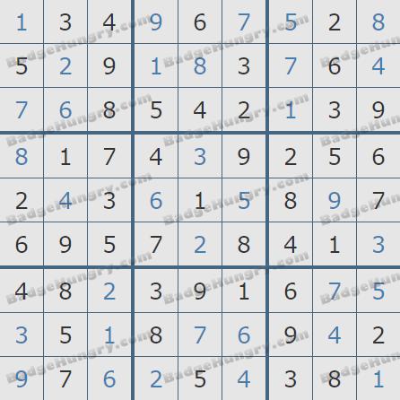 Pogo Daily Sudoku Solutions: May 6, 2019