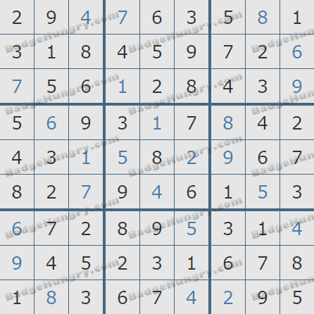 Pogo Daily Sudoku Solutions: May 8, 2019