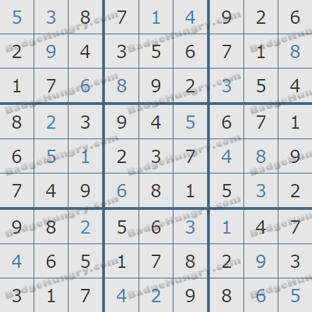 Pogo Daily Sudoku Solutions: May 9, 2019