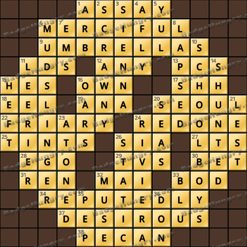 Crossword Cove HD Solution: May 9, 2019