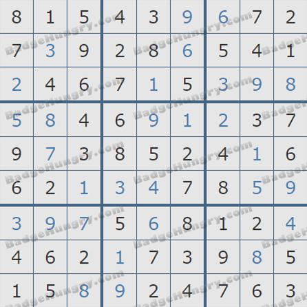 Pogo Daily Sudoku Solutions: May 12, 2019