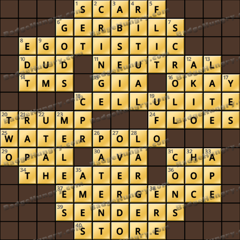 Crossword Cove HD Solution: May 12, 2019