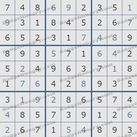 Pogo Daily Sudoku Solutions: May 13, 2019