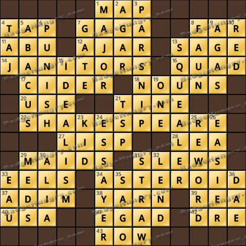 Crossword Cove HD Solution: May 13, 2019