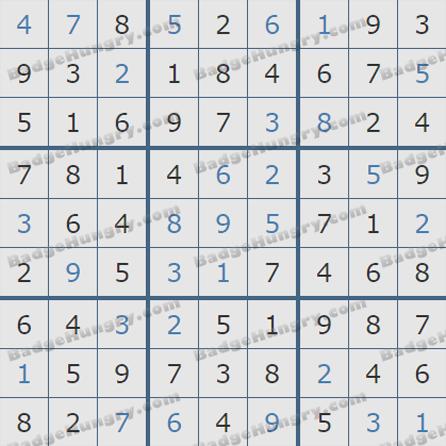 Pogo Daily Sudoku Solutions: May 14, 2019