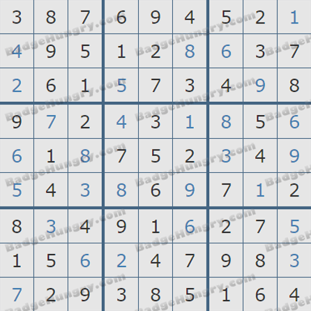Pogo Daily Sudoku Solutions: May 15, 2019