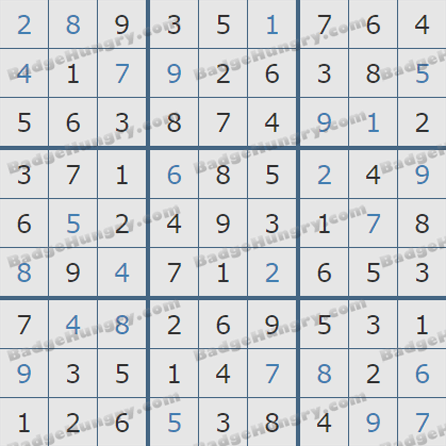 Pogo Daily Sudoku Solutions: May 20, 2019