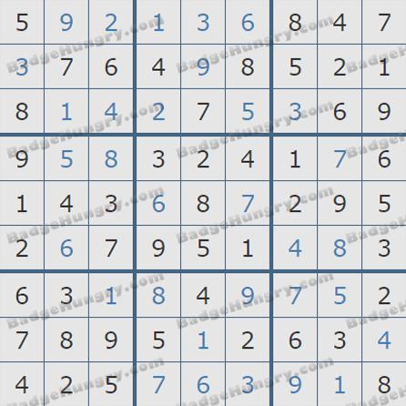 Pogo Daily Sudoku Solutions: May 21, 2019