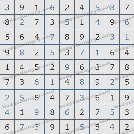 Pogo Daily Sudoku Solutions: May 22, 2019