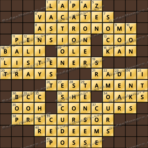 Crossword Cove HD Solution: May 22, 2019