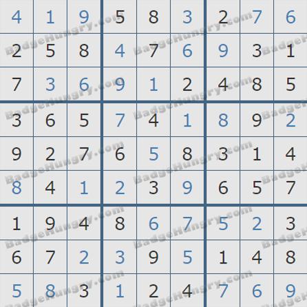 Pogo Daily Sudoku Solutions: May 23, 2019