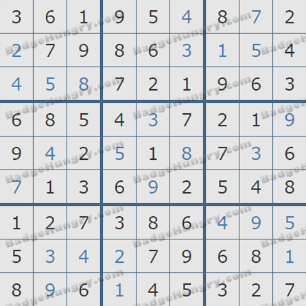 Pogo Daily Sudoku Solutions: May 23, 2019