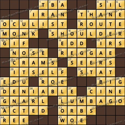 Crossword Cove HD Solution: May 24, 2019