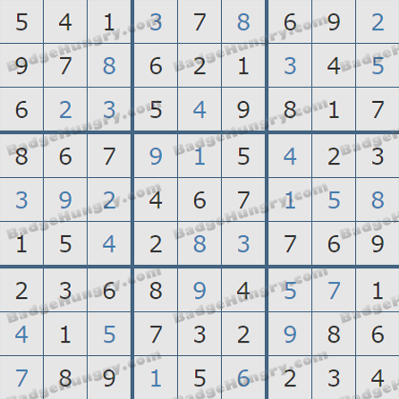 Pogo Daily Sudoku Solutions: May 26, 2019
