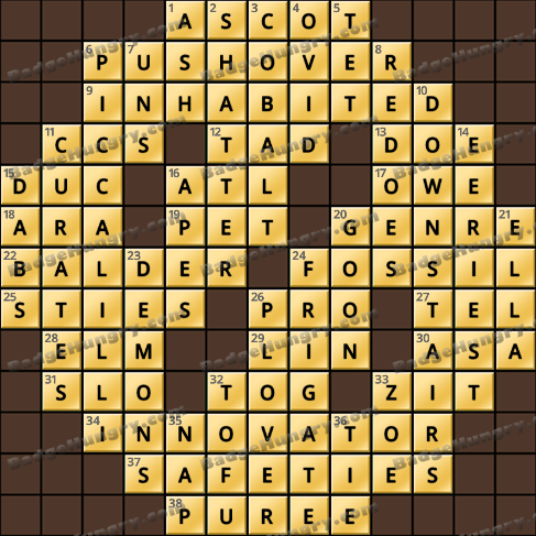 Crossword Cove HD Solution: May 26, 2019