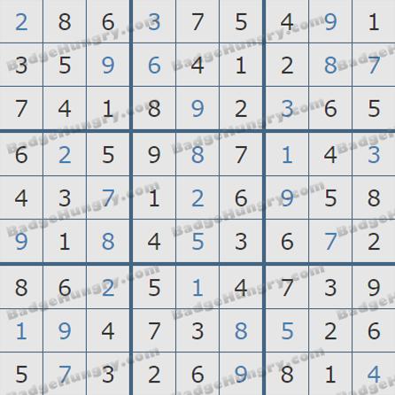 Pogo Daily Sudoku Solutions: May 27, 2019