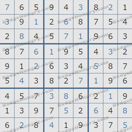 Pogo Daily Sudoku Solutions: May 28, 2019