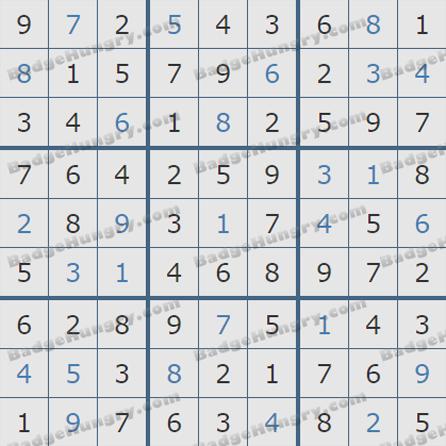 Pogo Daily Sudoku Solutions: May 29, 2019