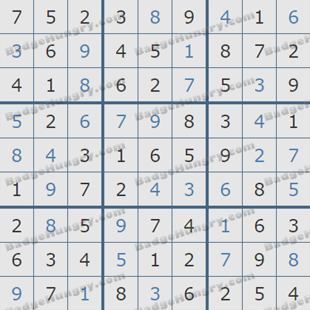 Pogo Daily Sudoku Solutions: May 31, 2019