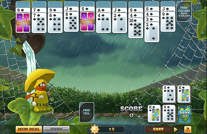 Rainy Day Spider Solitaire HD - Coming Soon to Pogo.com