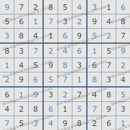 Pogo Daily Sudoku Solutions: June 2, 2019