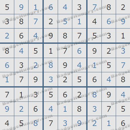 Pogo Daily Sudoku Solutions: June 3, 2019